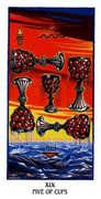 Five of Cups Tarot card in Ibis deck