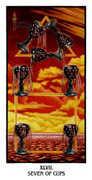 Seven of Cups Tarot card in Ibis deck