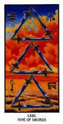 Nine of Swords Tarot card in Ibis Tarot deck