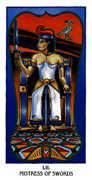 Mistress of Swords Tarot card in Ibis Tarot deck