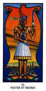Master of Swords Tarot card in Ibis deck