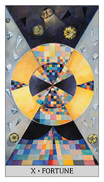 Wheel of Fortune Tarot Card - Japaridze Tarot Deck