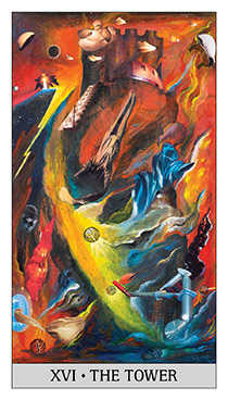 The Blasted Tower Tarot Card - Japaridze Tarot Deck