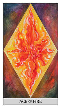 Ace of Fire Tarot Card - Japaridze Tarot Deck