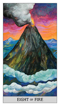 Eight of Lightening Tarot Card - Japaridze Tarot Deck