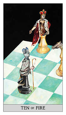 Ten of Sceptres Tarot Card - Japaridze Tarot Deck