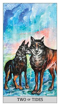 Two of Hearts Tarot Card - Japaridze Tarot Deck