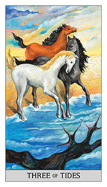 Three of Cups Tarot Card - Japaridze Tarot Deck