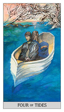 Four of Cups Tarot Card - Japaridze Tarot Deck