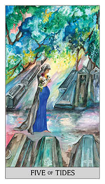 Five of Bowls Tarot Card - Japaridze Tarot Deck