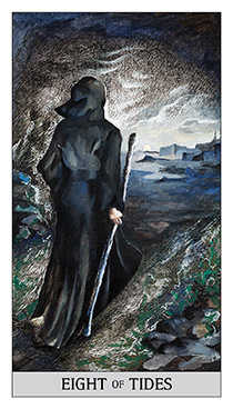 Eight of Cups Tarot Card - Japaridze Tarot Deck
