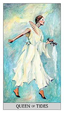 Queen of Cups Tarot Card - Japaridze Tarot Deck