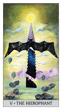 The Hierophant Tarot Card - Japaridze Tarot Deck