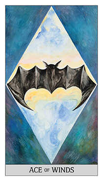 Ace of Bats Tarot Card - Japaridze Tarot Deck