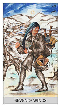 Seven of Wind Tarot Card - Japaridze Tarot Deck