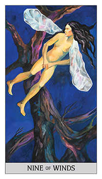 Nine of Arrows Tarot Card - Japaridze Tarot Deck