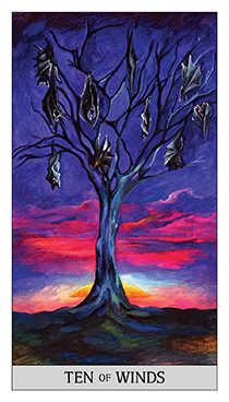Ten of Bats Tarot Card - Japaridze Tarot Deck