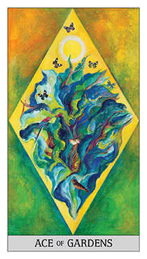 Ace of Pentacles Tarot Card - Japaridze Tarot Deck