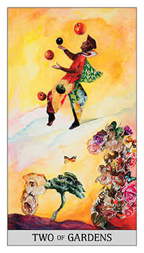 Two of Buffalo Tarot Card - Japaridze Tarot Deck
