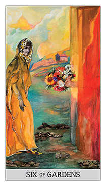Six of Coins Tarot Card - Japaridze Tarot Deck