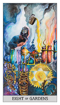 Eight of Spheres Tarot Card - Japaridze Tarot Deck