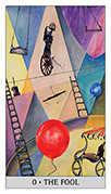 The Fool Tarot card in Japaridze Tarot deck