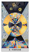 Wheel of Fortune Tarot card in Japaridze Tarot deck