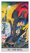 The Devil Tarot card in Japaridze Tarot deck