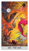 The Sun Tarot card in Japaridze Tarot deck