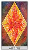 Ace of Wands Tarot card in Japaridze Tarot deck