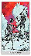 Five of Wands Tarot card in Japaridze Tarot deck