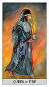 Queen of Wands Tarot card in Japaridze Tarot deck