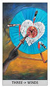 Three of Swords Tarot card in Japaridze Tarot deck