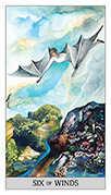 Six of Swords Tarot card in Japaridze Tarot deck