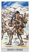 Seven of Swords Tarot card in Japaridze Tarot deck