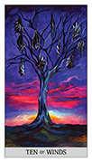 Ten of Swords Tarot card in Japaridze Tarot deck