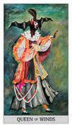 Queen of Swords Tarot card in Japaridze Tarot deck