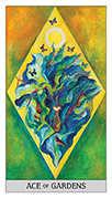 Ace of Coins Tarot card in Japaridze Tarot deck
