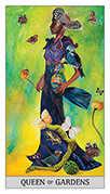 Queen of Coins Tarot card in Japaridze Tarot deck