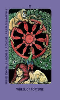 The Wheel of Fortune Tarot Card - Jolanda Tarot Deck