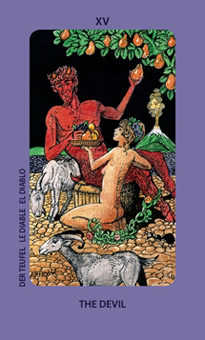 The Devil Tarot Card - Jolanda Tarot Deck