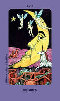 The Moon Tarot Card - Jolanda Tarot Deck