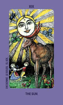 The Sun Tarot Card - Jolanda Tarot Deck