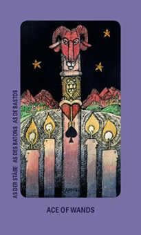 Ace of Rods Tarot Card - Jolanda Tarot Deck
