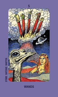 Five of Lightening Tarot Card - Jolanda Tarot Deck