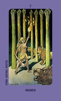 Seven of Rods Tarot Card - Jolanda Tarot Deck