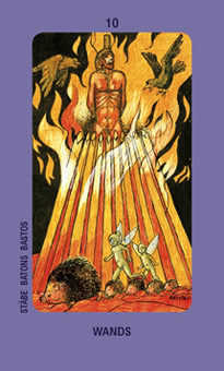 Ten of Sceptres Tarot Card - Jolanda Tarot Deck