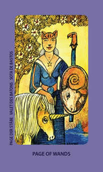 Daughter of Wands Tarot Card - Jolanda Tarot Deck