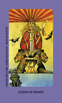 Queen of Pipes Tarot Card - Jolanda Tarot Deck