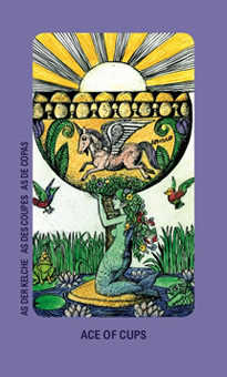 Ace of Hearts Tarot Card - Jolanda Tarot Deck